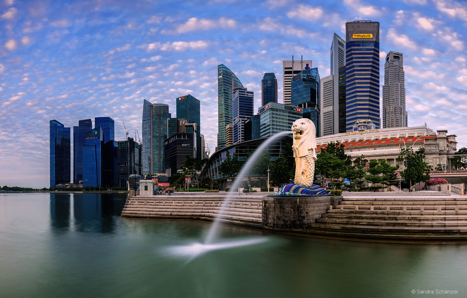 Business District mit Merlion