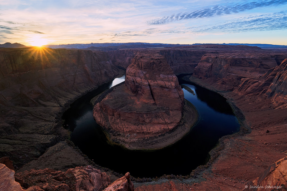 Horseshoe Bend Sonnenuntergang Arizona